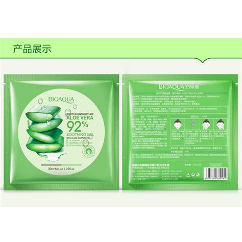 Bioaqua Mask Aloe Vera Gel bioaqua aloe vera gel mask 30g jakartanotebook