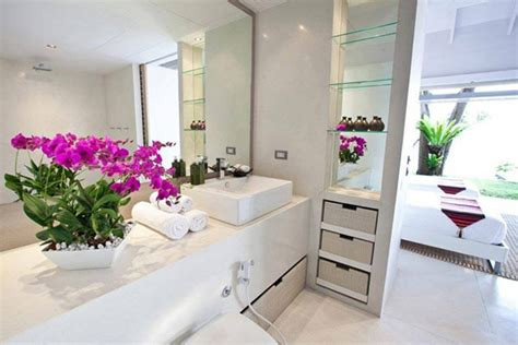 bathroom flowers and plants how to decorate bathroom with plants universalcouncil info