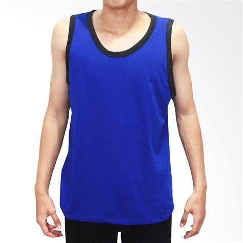 Singlet Pria Adidas F4124 jual bkp singlet pria biru list navy harga kualitas terjamin blibli