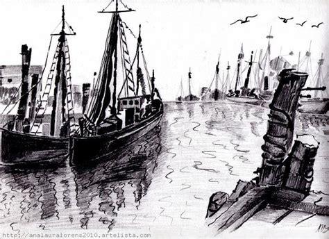 imagenes de barcos a lapiz el puerto y sus barcos ana laura sara lorens pallas