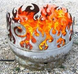 Propane Tank Firepit I Really Need A Plasma Cutter Metal Cut Outs Cool Pits Awesome And Dogs
