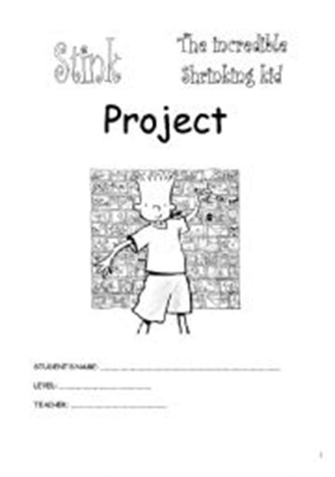 Stink, the incredible shrinking kid Project