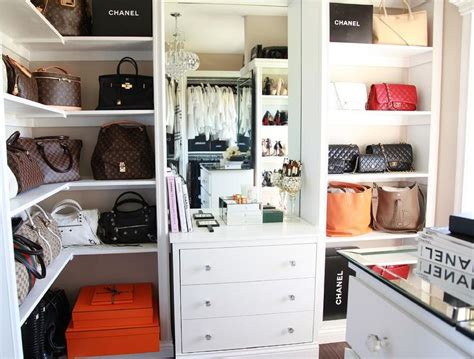 Designers Closet by Walk In Closet Built In Display Shelves With Designer Bags