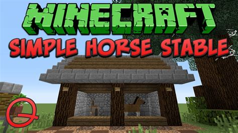 Ranch Blueprints by Minecraft Simple Horse Stable Quick Tutorial Youtube