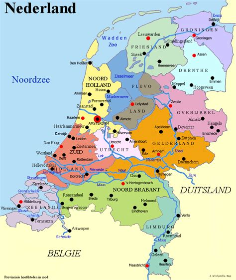map of netherlands friesland the netherlands