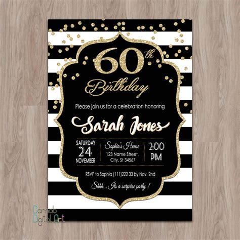 Bday Invites by 60th Birthday Invitations 60th Birthday Invitations For