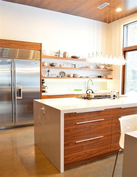 Condo Kitchen Ideas walnut floating shelves available on the semihandmade