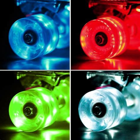Longboard Light Up Wheels by Set Of 4 Led Light Up Skateboard Wheels With Abec 7 Bearings Smoother Quieter Ride 60x45mm