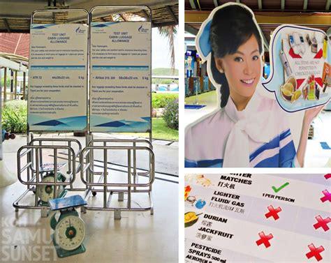 thai airways baggage allowance thailand travel forum bangkok airways to koh samui what to know before you fly