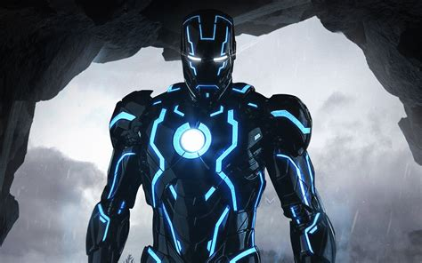 neon iron man wallpapers hd wallpapers id