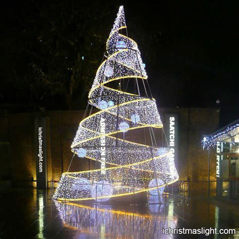 christmas decorations led tree from love actully modern led spiral large trees ichristmaslight