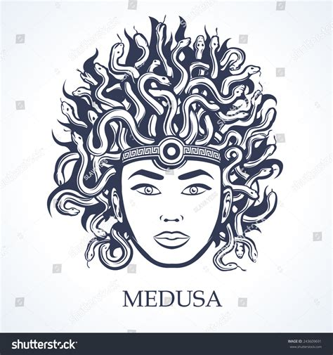 medusa head stock vector 243609691 shutterstock