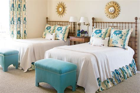 turquoise and cream bedroom relaxed elegance beautiful blue bedrooms southern living