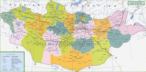 mongolia on world map mongolia political map