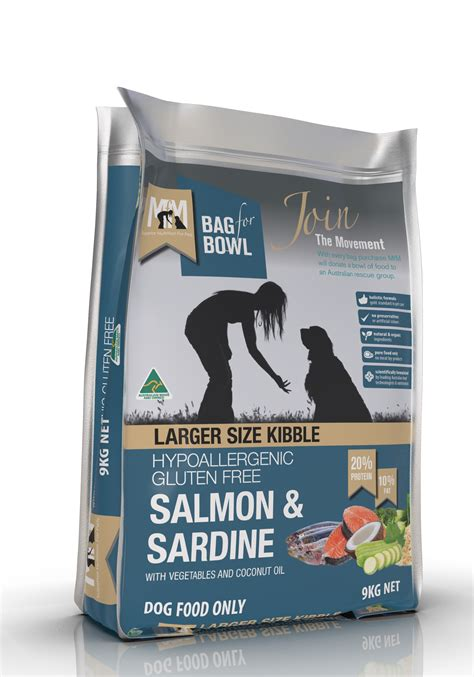 salmon sardine large kibble meals  mutts australia