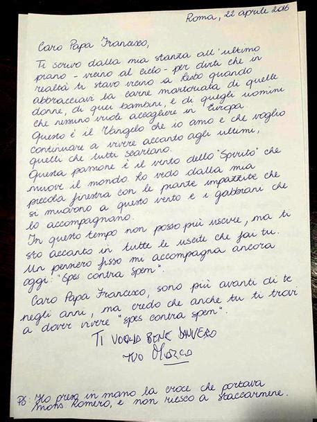lettere ti voglio bene pannella la lettera a papa francesco ti voglio bene