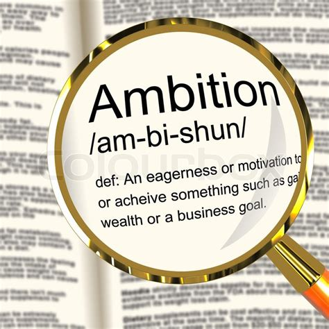 drive meaning ambition definition magnifier showing aspirations