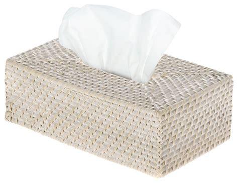 laguna rectangular rattan tissue box cover white wash style tissue box holders by