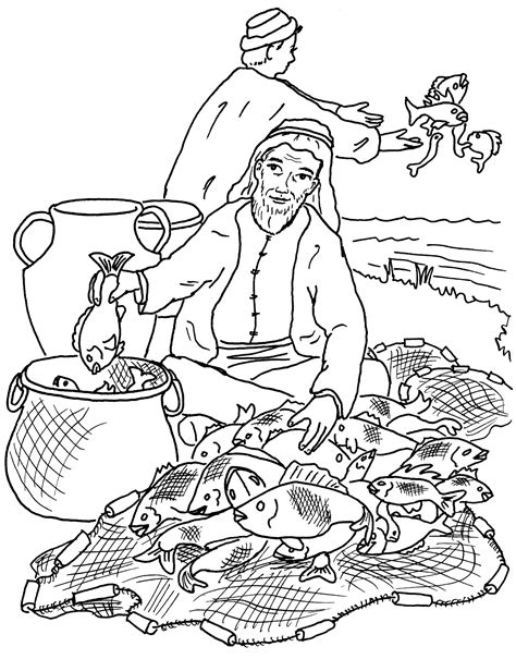 fishers of men coloring pages