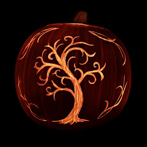 spooky tree pumpkin template 125 pumpkin carving ideas digsdigs