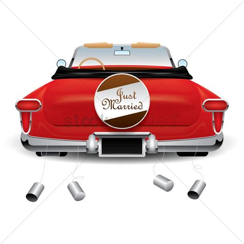 Just Married Auto Clipart by Just Married Car Vector Image 1812040 Stockunlimited