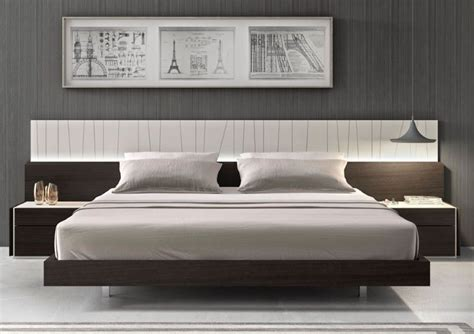 modern platform bed and wall mounted side tables idea feat stylish bedroom furniture inspiration