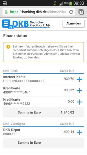 dkb bank banking login dkb mobile banking gr 252 ne aktien