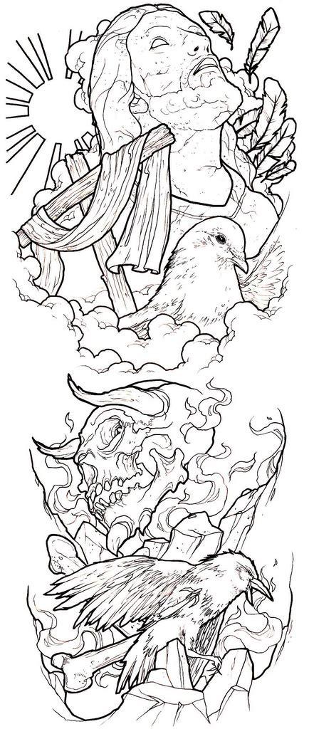 evil tattoo sleeve designs evil conflict sleeve idea a photo on