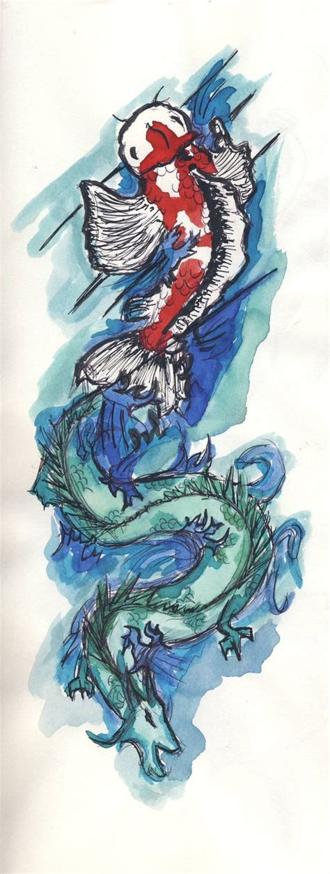tattoo koi fish turning into dragon koi fish turning into dragon images frompo 1