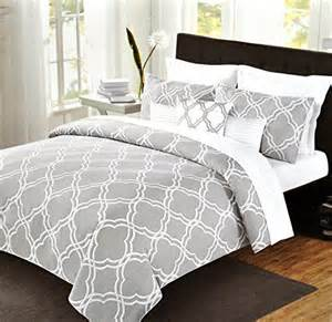 max studio comforter sets max studio modern geometric quatrefoil trellis pattern