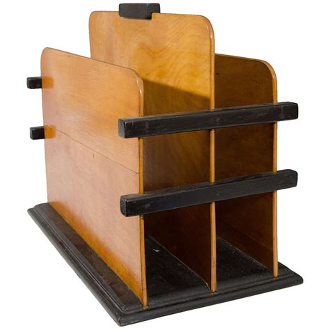 magazine rack with art deco wooden magazine rack with black accents at 1stdibs