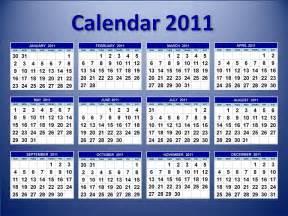 Calendar Of 2011 Year Calenders Calendar Template 2016