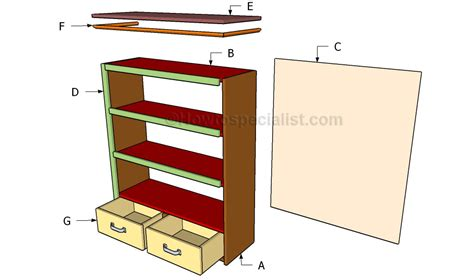 bookcase plans free howtospecialist how to build step