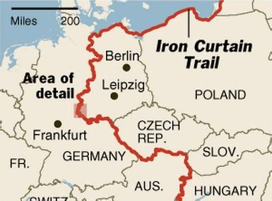 the term iron curtain refers to the this is a image of the quot iron curtain quot of the border of