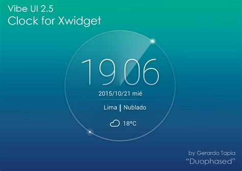 clock themes for lenovo vibe ui 2 5 weather clock for xwidget by duophased on