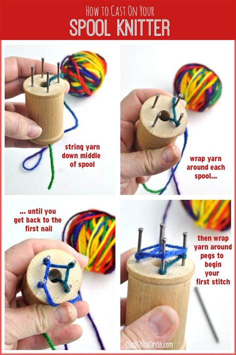 How To Cast On Spool Knitter And How To Make Your
