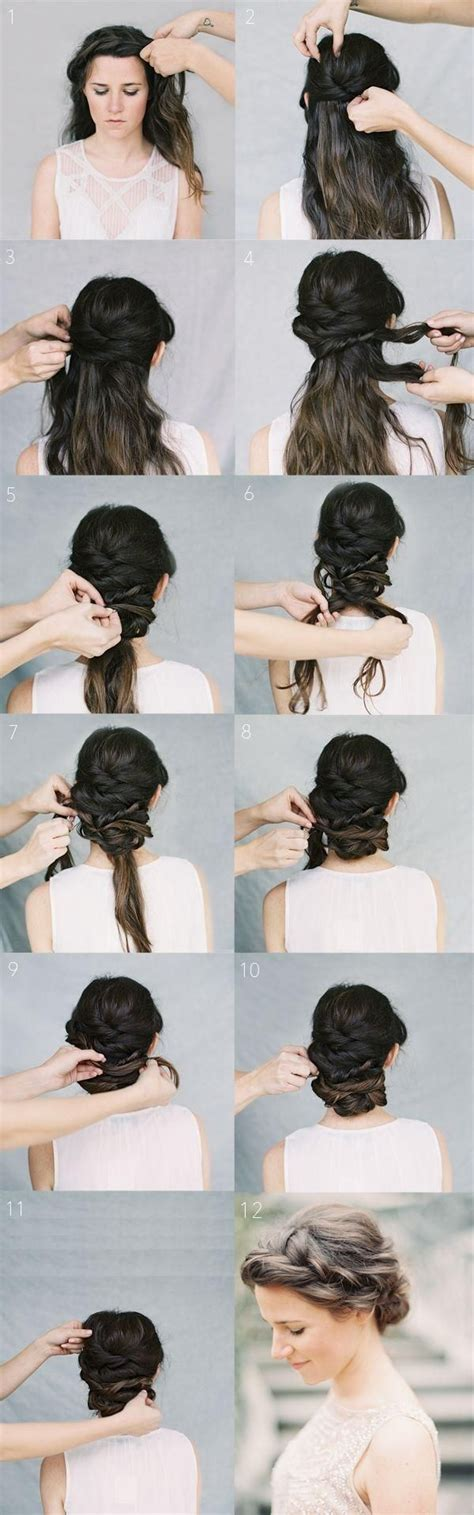 Wedding Hairstyles Tutorial by Twist Updo Hairstyles With Braids Wedding Hairstyles