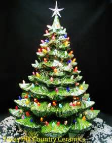 Christmas Tree Ceramic With Lights - giant ceramic christmas tree 24 inches tall green tree colorful lights texasceramics