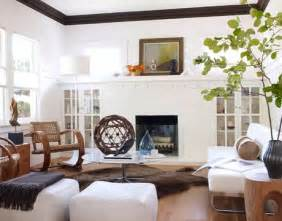 Modern Craftsman Interior by Fireplace Cabinets Transitional Living Room