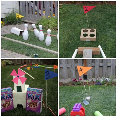 backyard mini golf course diy mini golf course for the backyard fun activities for kids pin