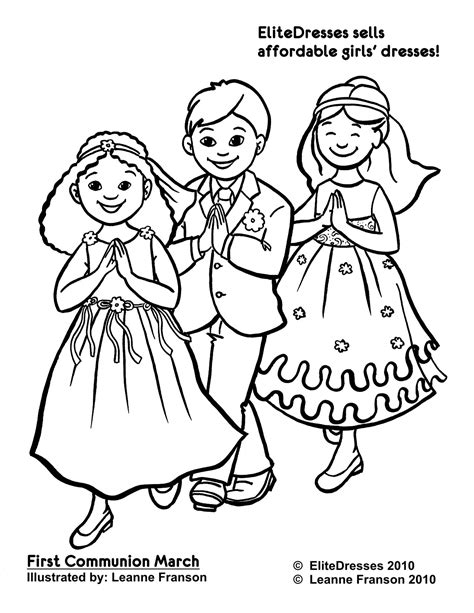 Holy Communion Printable Coloring Pages by Communion Dress Coloring Pages Free And Printable