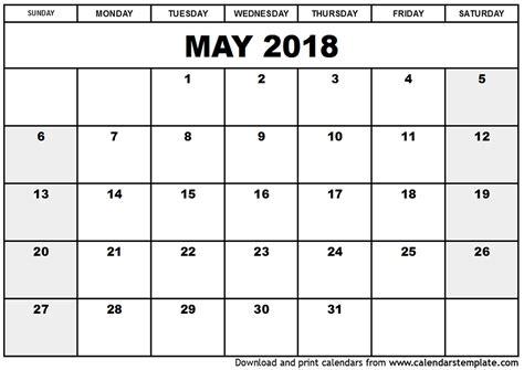 printable calendar 2018 may printable calendar may 2018 pdf larissanaestrada com