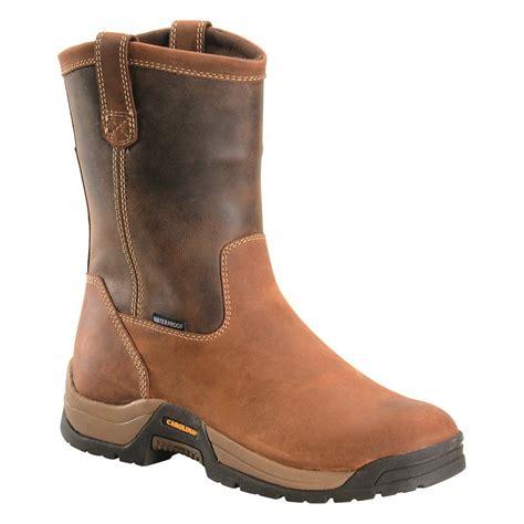 mens ranch boots carolina s waterproof 10 quot 4x4 ranch wellington work