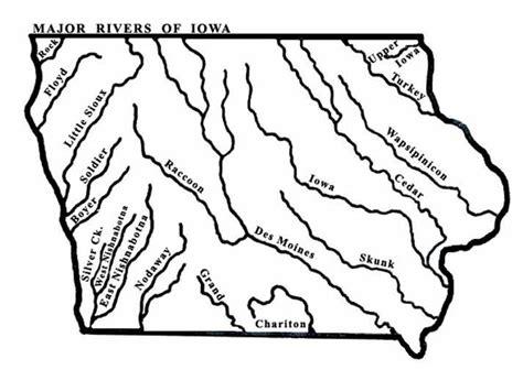 map of iowa rivers major rivers of iowa