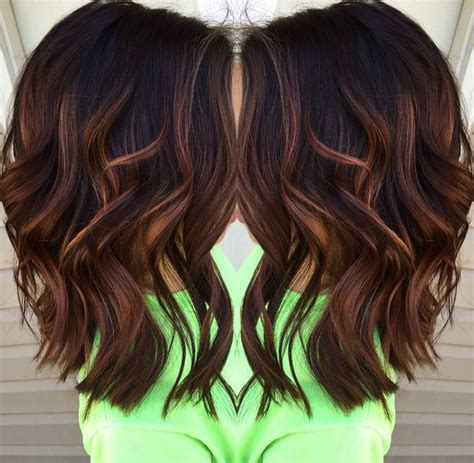 fall highlights for brown hair best caramel balayage on dark brown hair best balayage