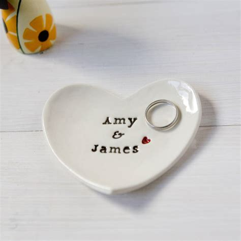 Personalised Wedding Gift by Personalised Wedding Gift Ring Dish By Foxery