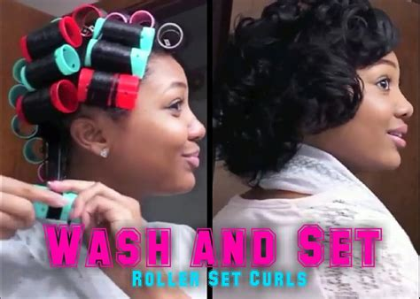 natural hair tutorial making your roller set youtube updated roller set hair tutorial wash set your hair
