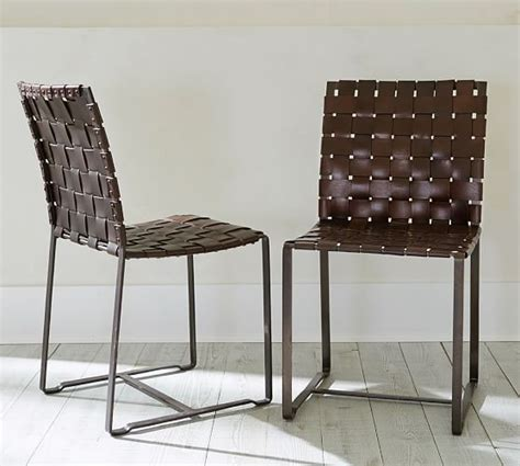 Pottery Barn Leather Dining Chair Leather Side Chair Pottery Barn West Park House Pinterest Chairs
