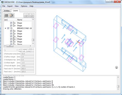 Drawing G Code by Dxf2gcode Sourceforge Net