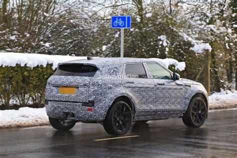range rover evoque production spyshots 2019 range rover evoque has production all led